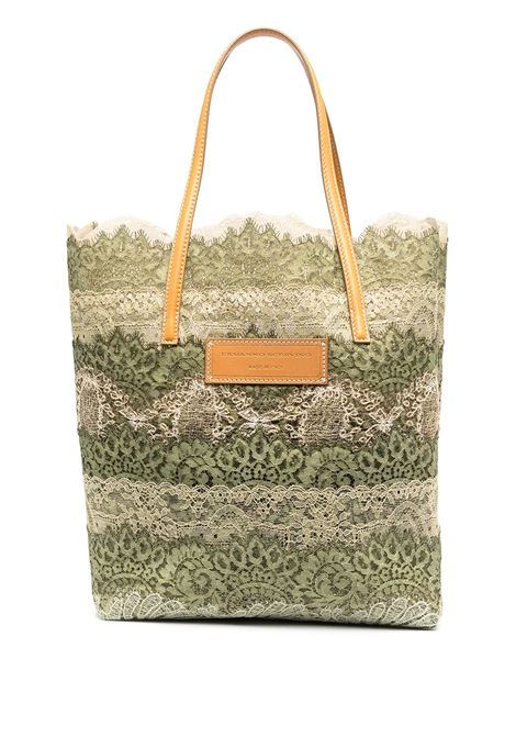 Shopper Seeds Of Love Verde e Nude ERMANNO SCERVINO | borse a spalla | D383S390QZRD3813