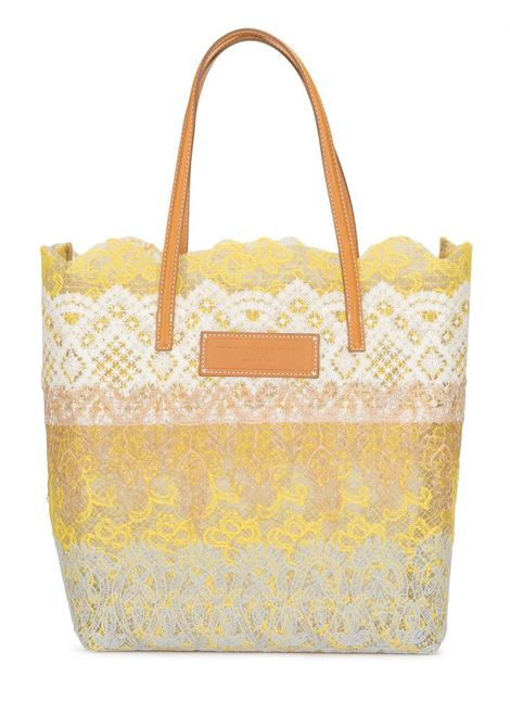 Yellow, Beige And White Seeds Of Love Shopper ERMANNO SCERVINO | shoulder bags | D383S390QZRD3814