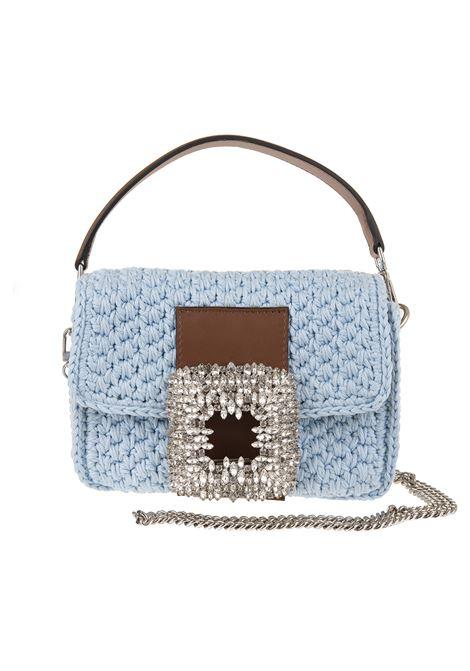 Light Blue Medium Mia Crochet Bag With Crystals GEDEBE | Bags | MIA CROCHET MEDIUMAZURE