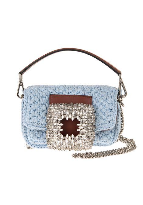Borsa Mia Crochet Piccola Celeste Con Cristalli GEDEBE | Borse | MIA CROCHET SMALLAZURE