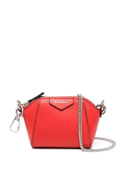 Red Baby Antigona Bag With Chain GIVENCHY | mini bags | BB60D7B0XN630