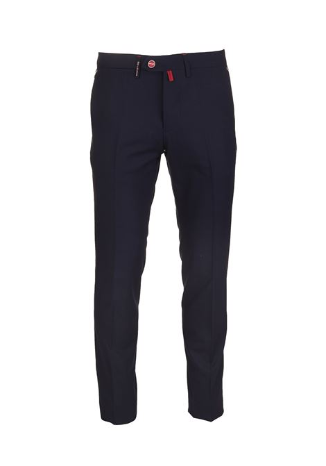 Blue Navy Classic Trousers  KITON | trousers | UFPP79K06S5506
