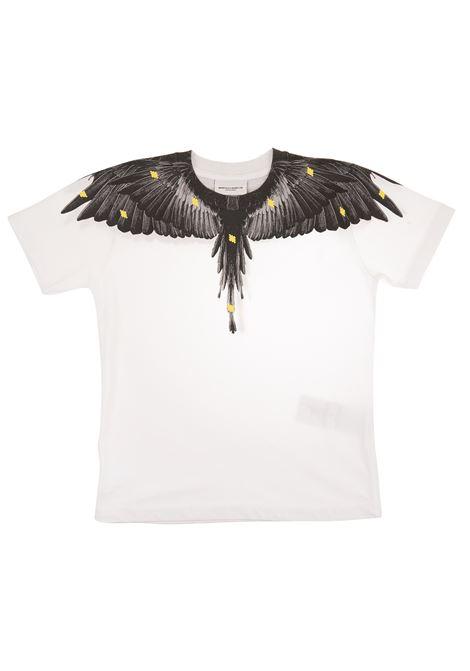 T-shirt bianca con stampa ali MARCELO BURLON KIDS | T-Shirts | 1114-0010B000