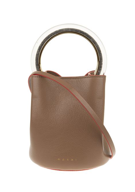 Brown leather tote bag MARNI |  | SCMPU09T28-P362100M28