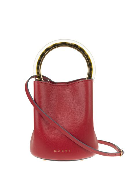 Red  leather tote bag MARNI |  | SCMPU09T28-P362100R69