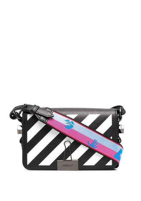 Black Diag Mini Flap Bag OFF-WHITE | Bags | OWNA038R21LEA0011001