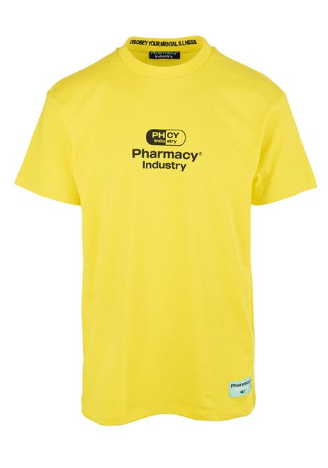 Yellow Man T-Shirt With Logo PHARMACY INDUSTRY | t-shirts | PHM201GIALLO