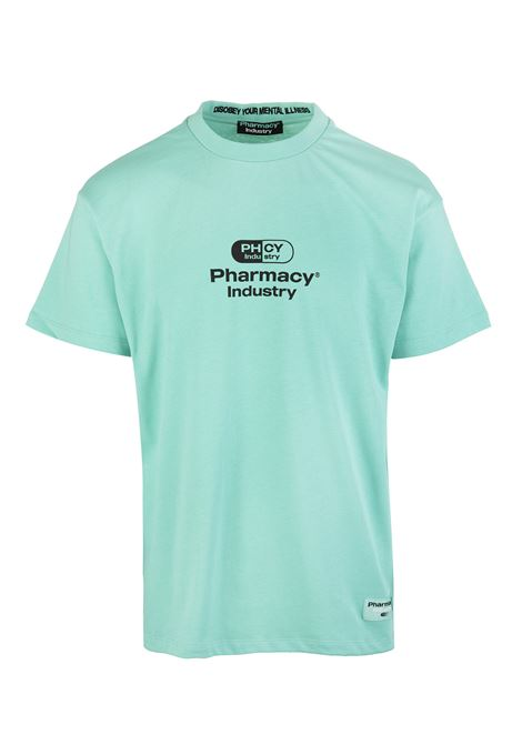 Mint Man T-Shirt With Logo PHARMACY INDUSTRY | t-shirts | PHM201MENTA