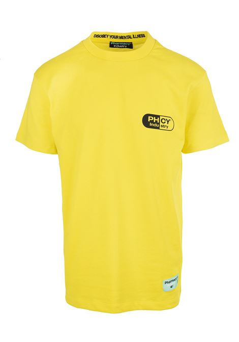 Yellow Man T-Shirt With Maxi Logo PHARMACY INDUSTRY | t-shirts | PHM205GIALLO