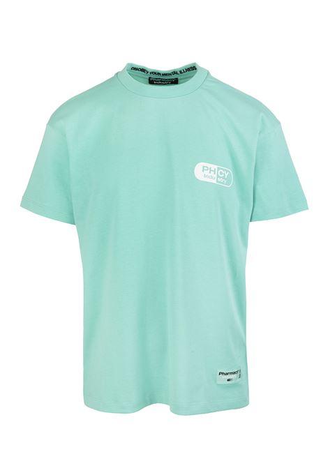 Mint Man T-Shirt With Maxi Logo PHARMACY INDUSTRY | t-shirts | PHM205MENTA