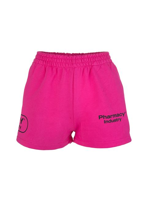 Shorts Fucsia Donna Con Loghi PHARMACY INDUSTRY | Shorts | PHW203FUXIA