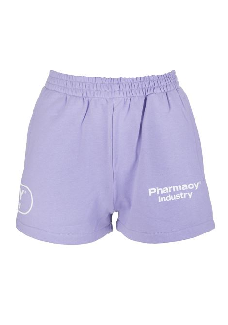Woman Lilac Shorts With Logos PHARMACY INDUSTRY | Shorts | PHW203LILLA