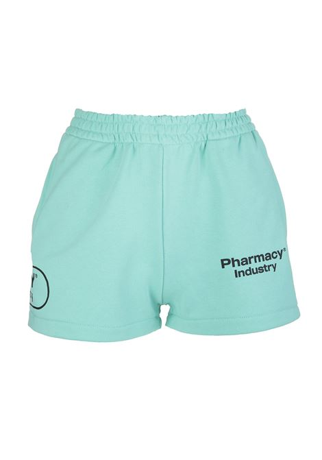 Woman Mint Shorts With Logos PHARMACY INDUSTRY | Shorts | PHW203MENTA
