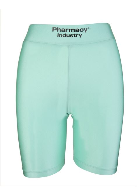 Woman Mint Green Short Sports Leggings With Logo PHARMACY INDUSTRY | Shorts | PHW209SEICHELLES (MENTA)