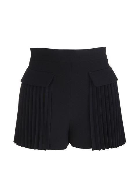 Shorts Plissettati Neri RED VALENTINO | Shorts | VR3RFE605620NO