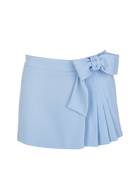 Skirt-style shorts with bow RED VALENTINO | Shorts | VR3RFE652EU198