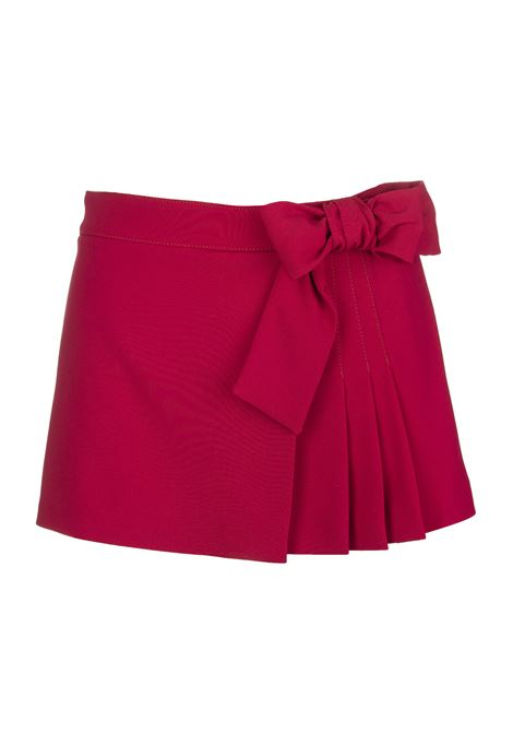 Skirt-style shorts with bow RED VALENTINO   Shorts   VR3RFE652EUIA7