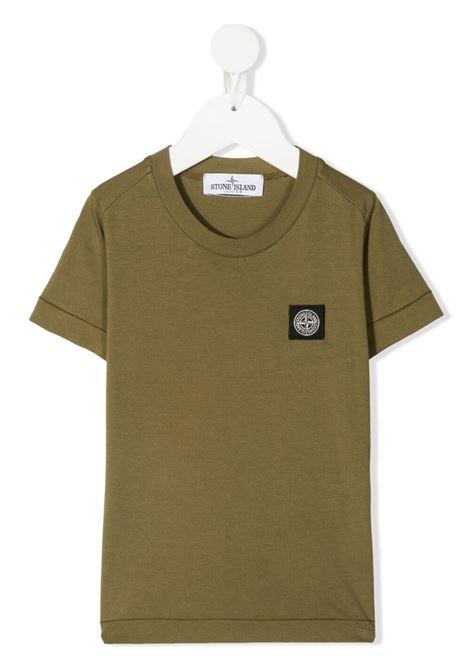 T-shirt con logo STONE ISLAND JUNIOR | T-Shirts | 741620147V0058