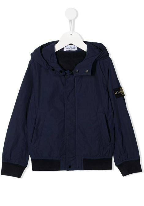 Logo patch bomber jacket STONE ISLAND JUNIOR | jackets | 741640530V0028
