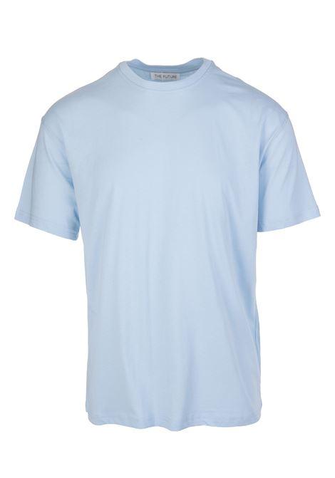 Light Blue Basic T-Shirt THE FUTURE | t-shirts | TF0004CELESTE