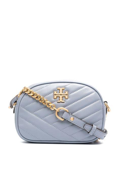 Light Blue Kira Small Camera Bag In Chevron TORY BURCH | Bags | 60227042
