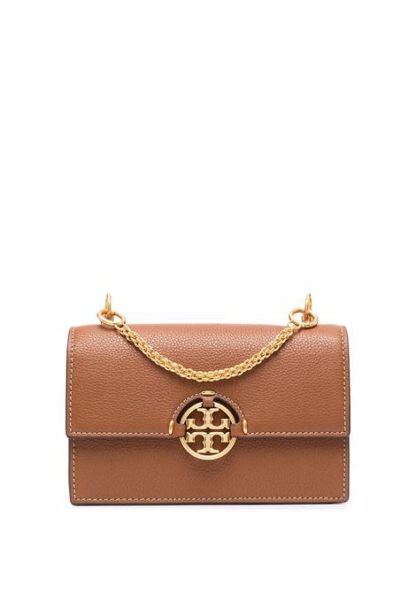Minibag Miller In Pelle Martellata Marrone TORY BURCH | Borse | 80532905
