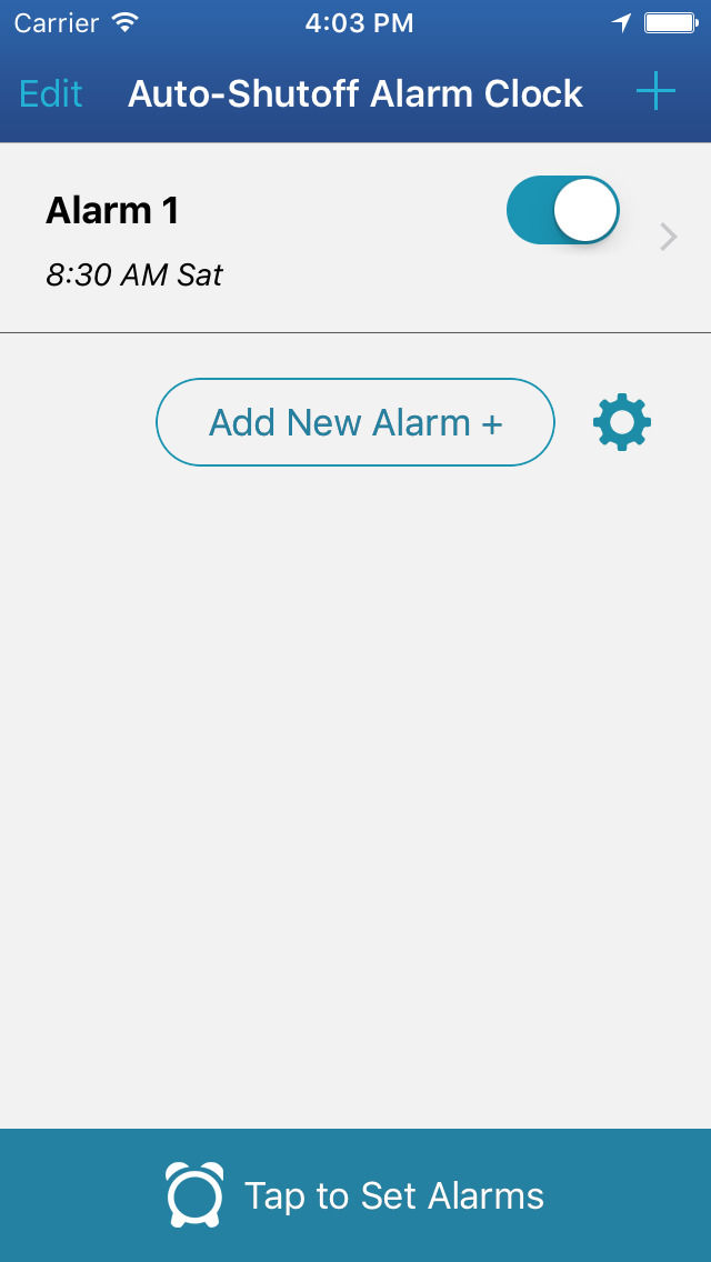Auto-Shutoff Alarm Clock for iPhone / iPod Touch