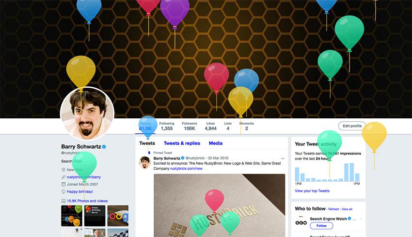Twitter Balloons Birthday