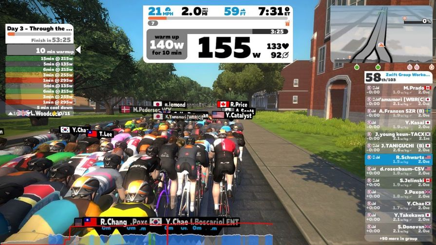Winter Indoor Cycling Workouts With Zwift