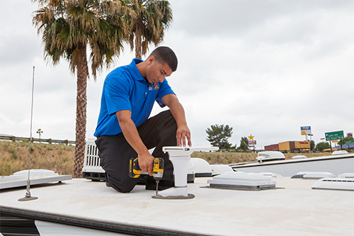 routine maintenance on rv roof
