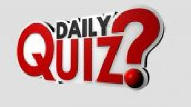 Current Affairs Quiz 02 February 2018