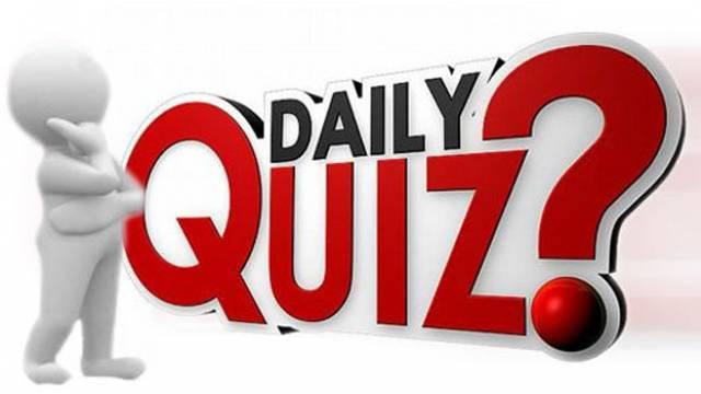 Current Affairs Quiz 16 April 2018