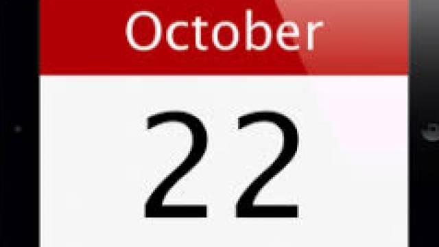 22 October