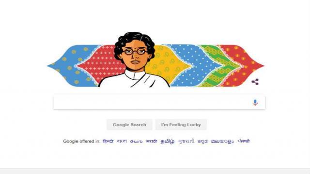 Who is Anasuya Sarabhai in Google Doodle today?