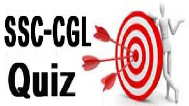SSC CGL Quiz 13 September, 2017