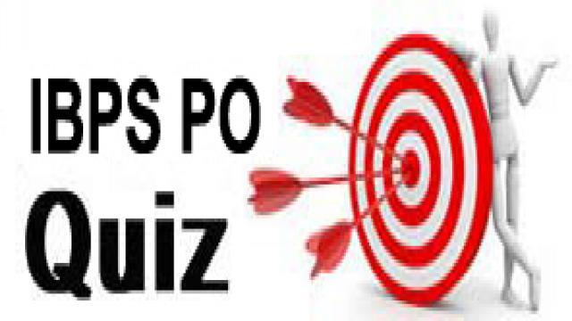 IBPS PO Quiz 14 November, 2017