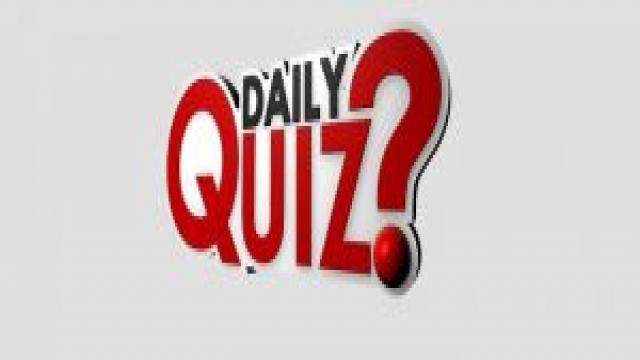 Current Affairs Quiz 12 January 2018