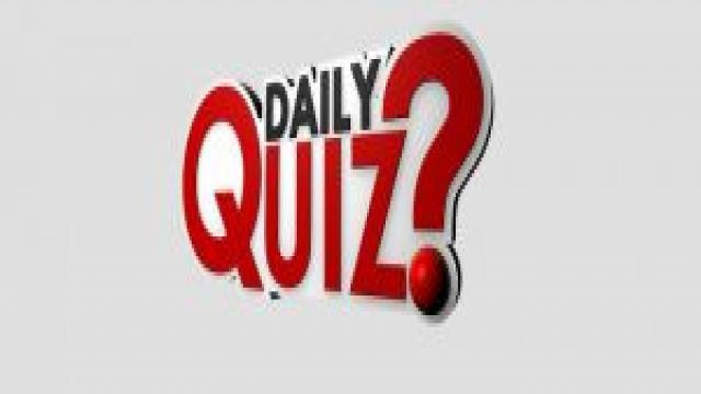Current Affairs Quiz 13 January 2018