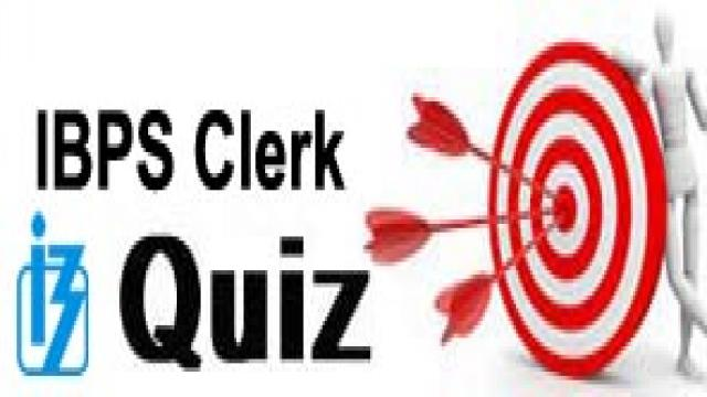 IBPS Clerk Quiz 13 January 2018