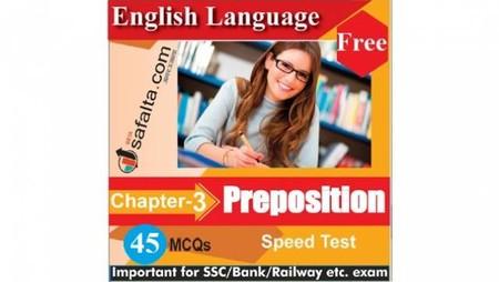 English Language Chapter 3 Preposition Free Speed Test