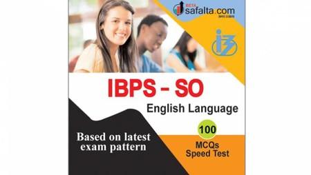 Buy IBPS-SO 100 Mcqs English Language @ safalta.com