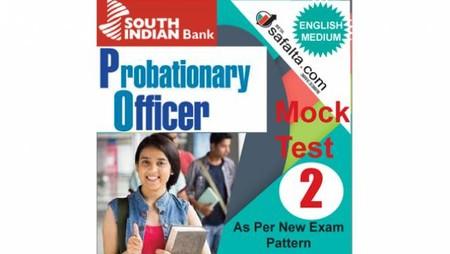 Buy South Indian Bank PO Mock Test-2 @ safalta.com