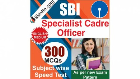 Buy 300 Mcqs Subject Wise Speed Test Series For SBI Specialist Cadre Officer