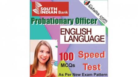 Buy South Indian Bank PO 100 Mcqs English Language Speed Test @ safalta.com