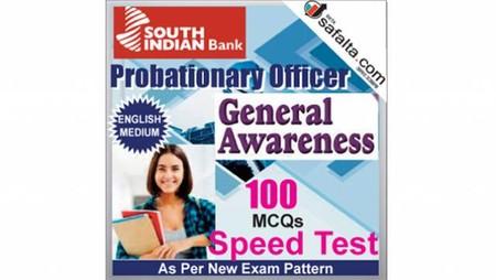 Buy South Indian Bank PO 100 Mcqs General Awareness Speed Test @ safalta.com