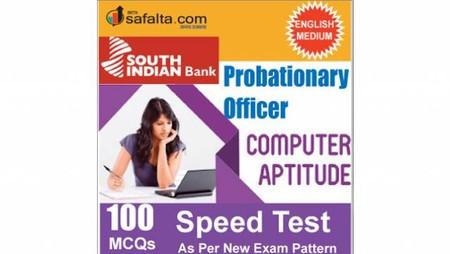 Buy South Indian Bank PO 100 Mcqs Computer Aptitude Speed Test @ safalta.com