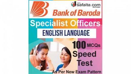 Buy BOB Specialist Officer 100 Mcqs English Language Speed Test @ safalta.com