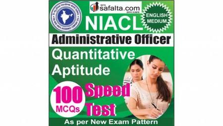 Buy NIACL Administrative Officer Quantitative Aptitude Online Speed Test @ Safalta.com