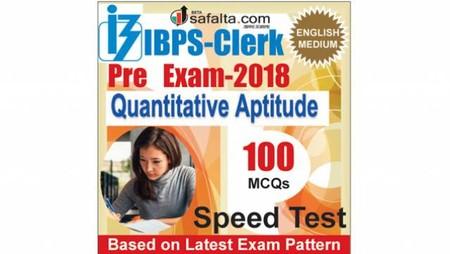 Buy IBPS-Clerk 100 Mcqs Quantitative Aptitude @ safalta.com