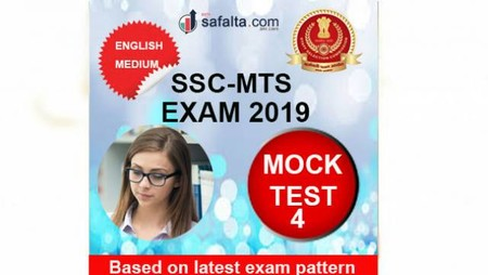 SSC MTS Paper-I Mock Test 4 In English